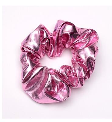 Scrunchie roze metallic groot