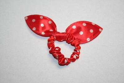 Kattenoren elastiek stippen rood