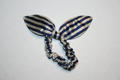 Kattenoren elastiek streep blauw