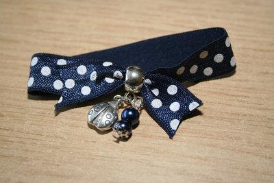 Sweetie donkerblauw/witte stip