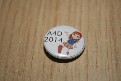 Buttonspeld A4D 2014 meisje wit