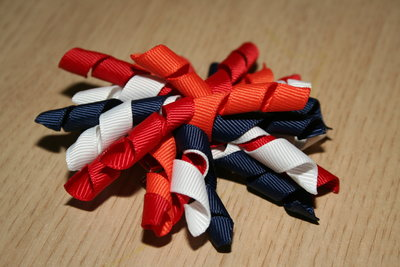 Krullenclip rood/wit/blauw/oranje