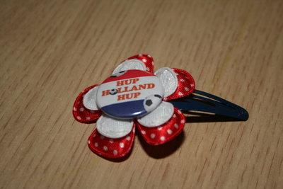 Haarclipje Hup Holland Hup