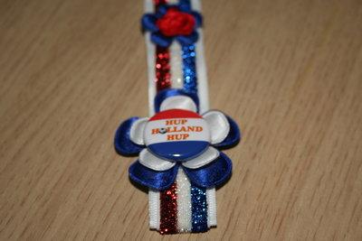 Sleutelhanger enkel Lint Hup Holland Hup rood/wit/blauw