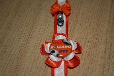 Sleutelhanger enkel Lint Hup Holland Hup oranje