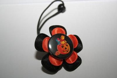Haarelastiek Halloween zwart/oranje