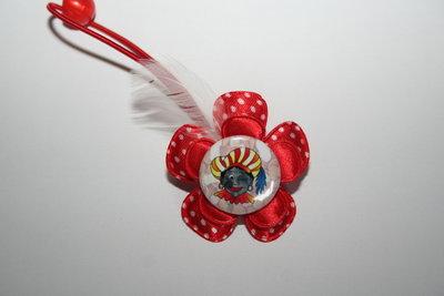 Haarelastiek Sinterklaas rood-witte stip/rood
