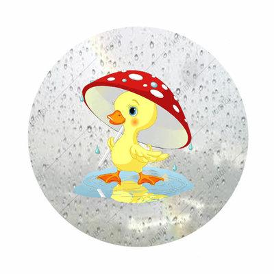 Eendje in regen