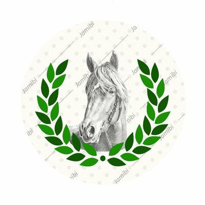 Paard met krans