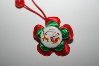 Haarelastiek Kerst rood/groen