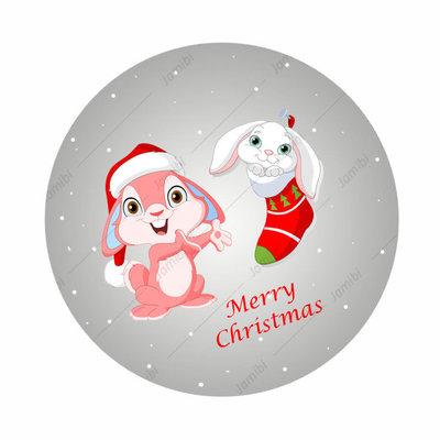Flatback met kerstkonijnen