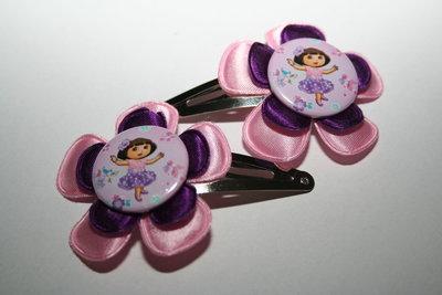 Haarclipje Dora roze/paars