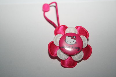 Haarelastiek Hello Kitty fuchsia/wit