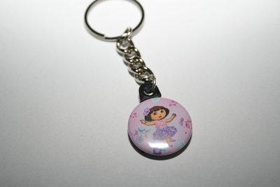 Sleutelhanger Dora roze