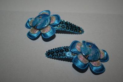 Haarclipje Frozen Elsa felblauwpaillet/felblauw/witpaillet