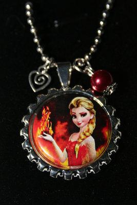 Ketting Frozen Elsa met vuur