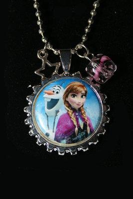 Ketting Frozen Anna en Olaf