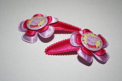 Haarclipje Peppa Pig lichtroze/fuchsia