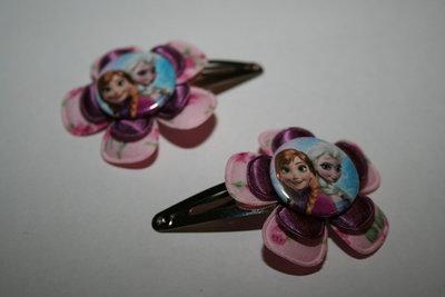 Haarclipje Frozen Anna en Elsa