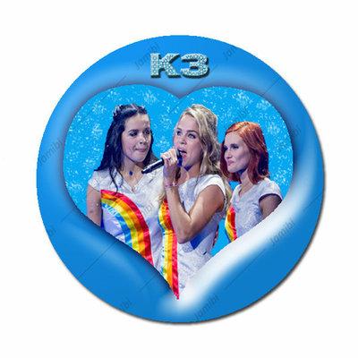 K3 nieuw blauw hart