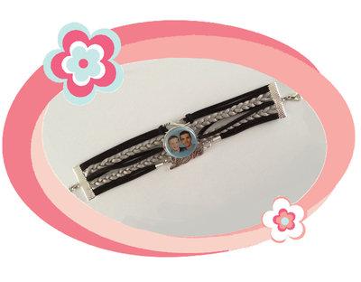 Armband zwart/zilver