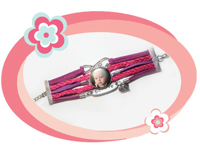 Armband paars/roze