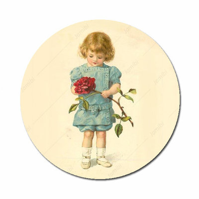Meisje met roos