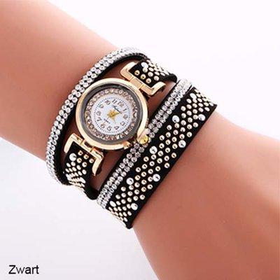 Armband horloge zwart