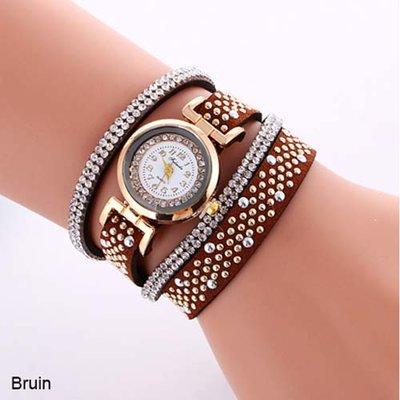 Armband horloge bruin