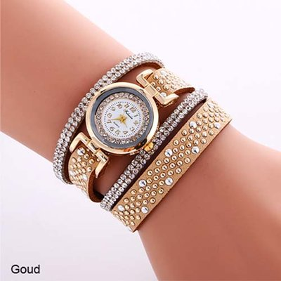 Armband horloge goud