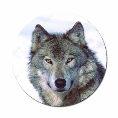 Wolf flatback button
