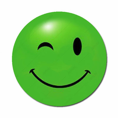 Smiley groen knipoog