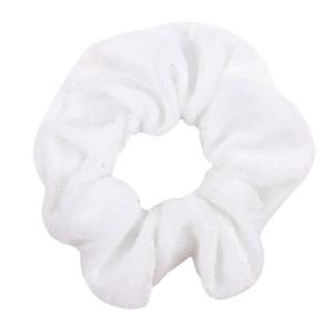 Scrunchie wit fluweel groot