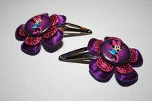 Haarclipje Minnie Mouse paars/fuchsiapaillet