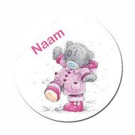 me2you beertje roze jas met naam