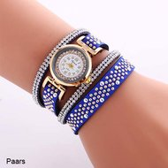 Armband horloge kobalt blauw