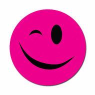 Smiley fuchsia knipoog
