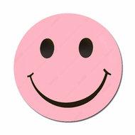 Smiley licht roze