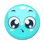 Smiley blauw