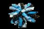 Krullenclip blauw/zwart_